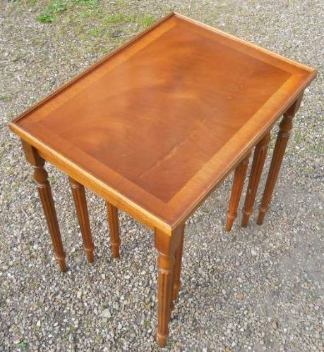 Yew Nest of Three Coffee Tables